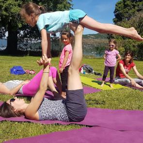 Stage « Yoga en famille » Du 22 au 25 Octobre 2017 au Domaine du Taillé Avec Mika DE BRITO et Sophie BERNAILLE