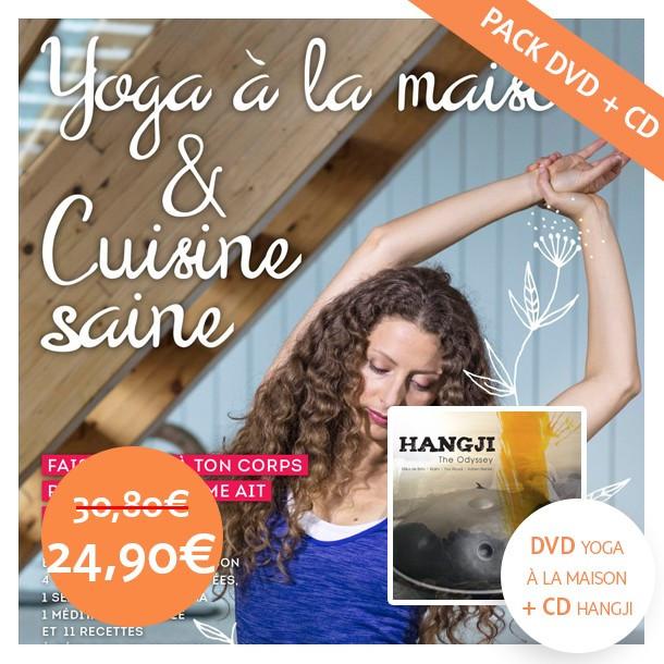 DVD Yoga à la maison et cuisine saine + CD Hangji «The Odyssey»