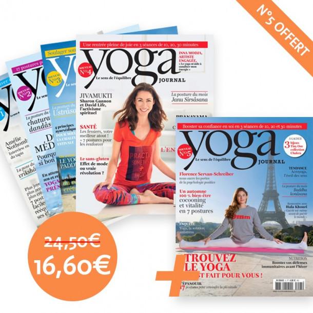 Pack Yoga Journal Numéros 1-2-3-4-5