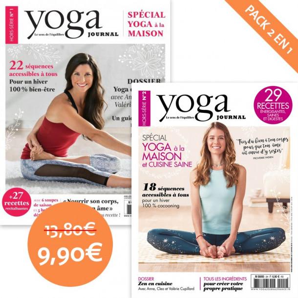 pack yoga journal hors s rie sp cial yoga la maison n 1. Black Bedroom Furniture Sets. Home Design Ideas