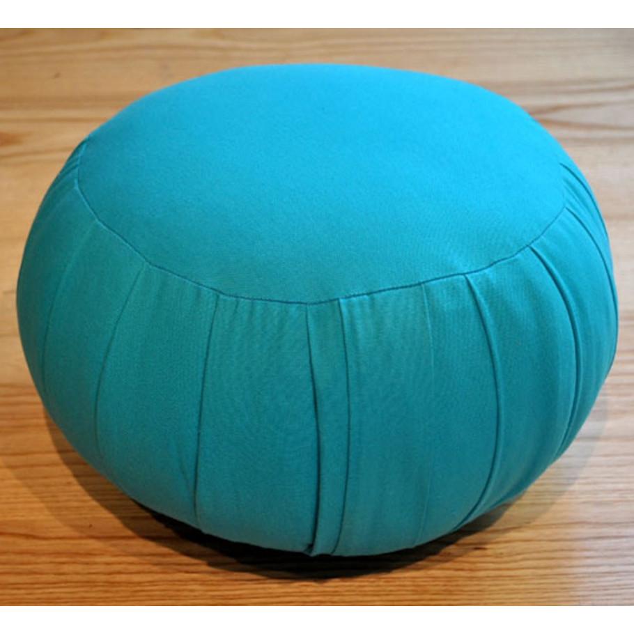 zafus coussin de m ditation bleu logo turquoise. Black Bedroom Furniture Sets. Home Design Ideas