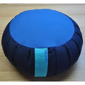 Zafus coussin de méditation en épeautre 3 couleurs bleu