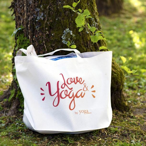 Sac Tote Bag en coton bio « Love & Yoga »