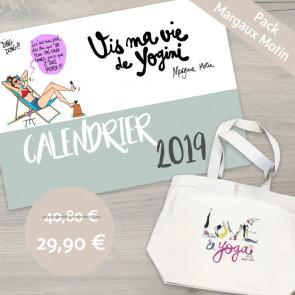 "Pack Margaux Motin : Calendrier ""Vis ma vie de yoginî"" & Tote Bag ""love & Yoga"""