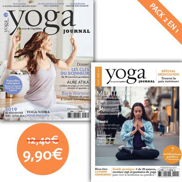 Pack Yoga Journal n°18 + Hors série n°4