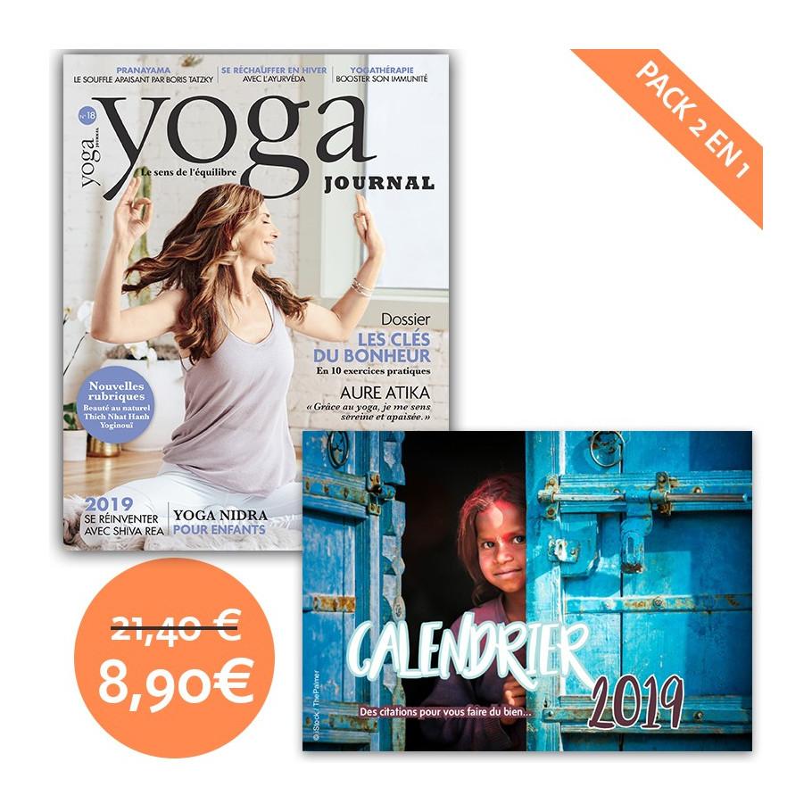 pack yoga journal n 18 calendrier citations yoga journal france. Black Bedroom Furniture Sets. Home Design Ideas