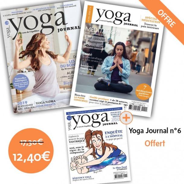 Pack Yoga Journal n°18 et Hors série n°4 + YJ n°6 offert - Yoga Journal France