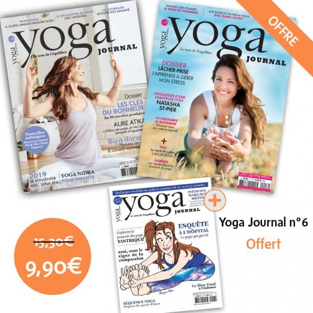 Pack Yoga Journal n°18 et n°17 + n°6 offert