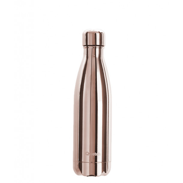 Bouteille isotherme Qwetch - Metallic rose gold