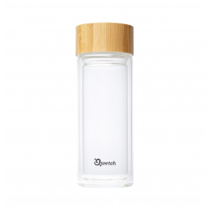 Théière verre double paroi Qwetch - Bambou