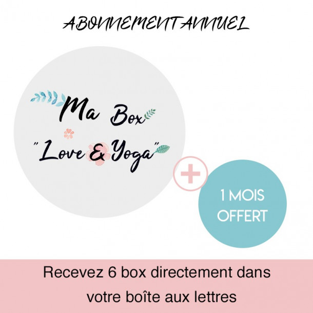 "Abonnement annuel box ""Love & Yoga"" - Yoga Journal France"