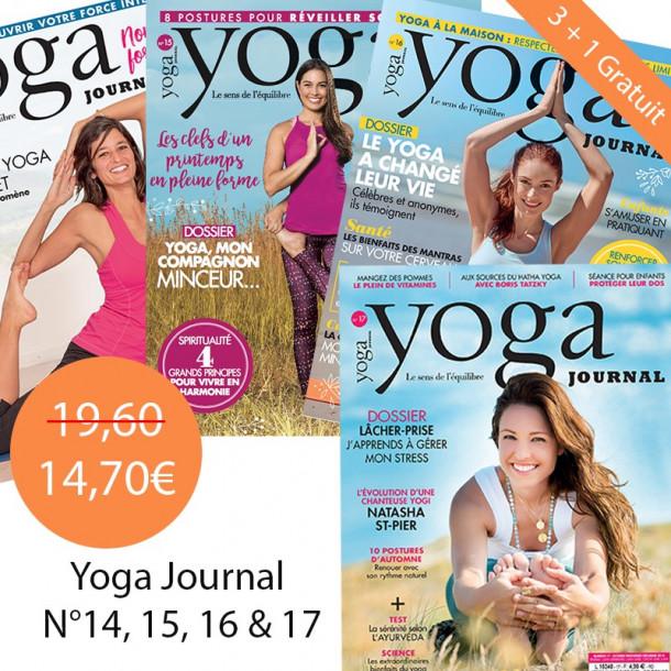 Pack Yoga Journal 3 + 1 gratuit 14 + 15 + 16 + 17