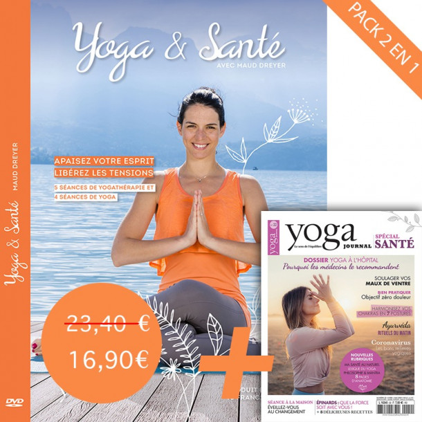 Pack DVD Yoga et santé avec Maud Dreyer et Yoga Journal N°22
