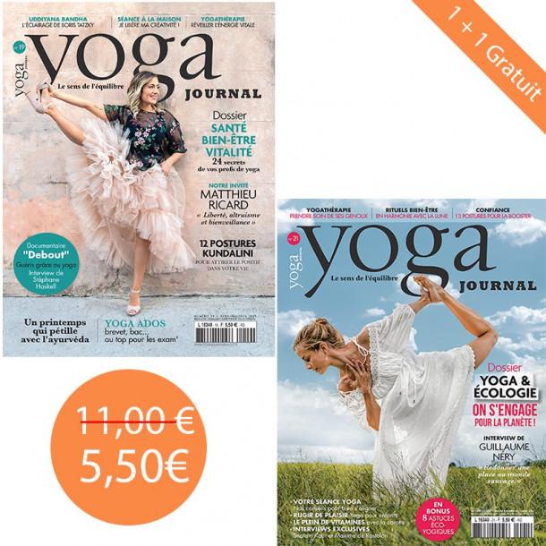 Pack Yoga Journal n°19 + 21 1+1 gratuit
