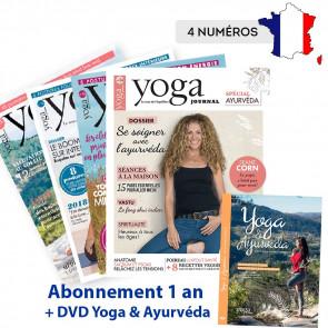 Abonnement FRANCE 4 numéros + DVD Yoga & Ayurvéda