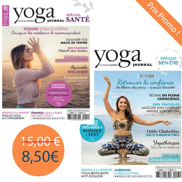 Pack Yoga Journal n°22 +  yoga journal 23 spécial bien-être