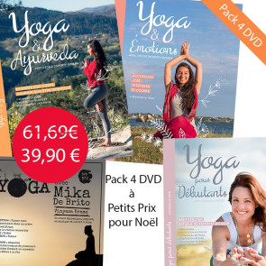 PACK DVD Yoga et Ayurveda + DVD Yoga & Emotions + DVD Bien débuter en yoga + DVD Mika de Brito