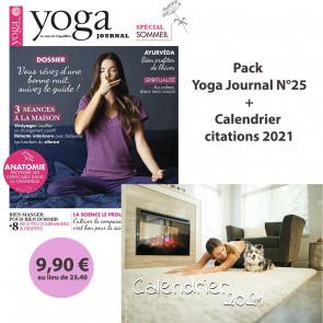 Pack Yoga Journal Numéro 25 + Calendrier 2021