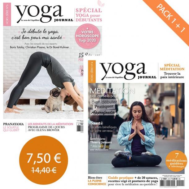 Pack Yoga Journal HS4 + Hors série N°6 Bien débuter en yoga