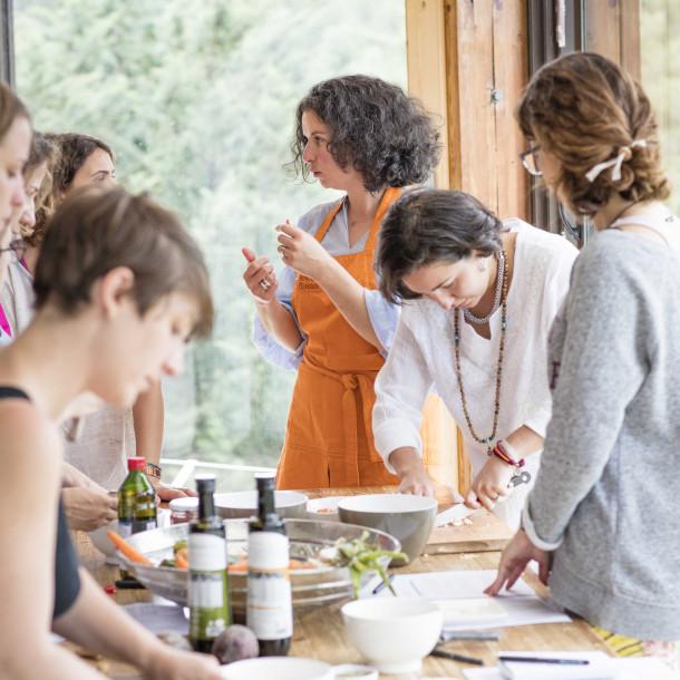 Stage Cuisine Vitalité du 16 au 22 août avec Anne Piovesan en Ardèche