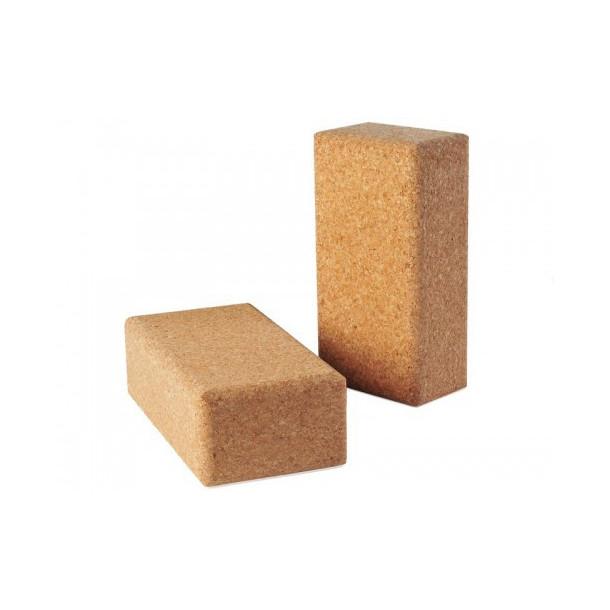 Brique de Yoga rectangulaire en liège extra 23 cm x 12 cm x 6,5 cm