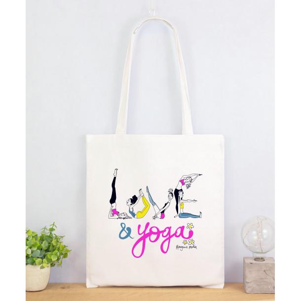 Love & Yoga-tote bag en coton bio