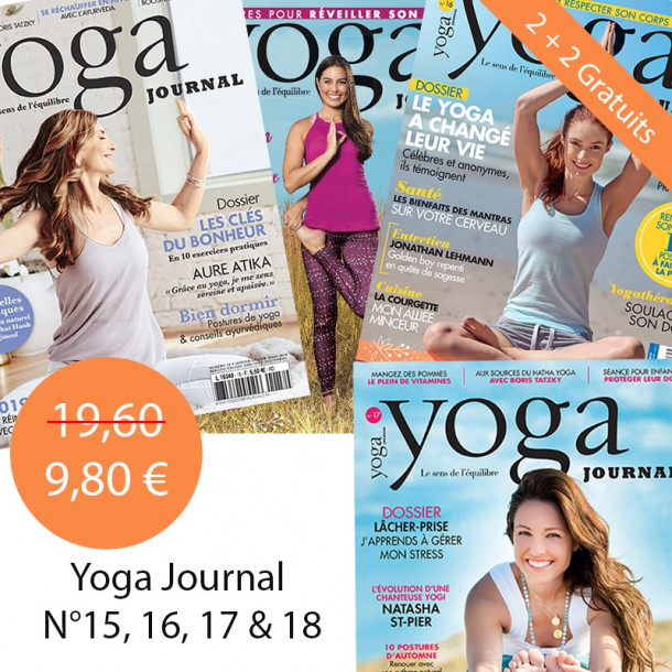 Pack Yoga Journal 2 + 2 gratuits 15 + 16 + 17 + 18